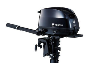 6HP TOHATSU Long Shaft Tiller NEW MODEL Outboard Extra Handles Store 3 Ways!!