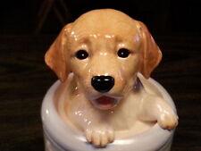 YELLOW LAB Porcelain Dog Treat Cookie Jar Ceramic Figurine Quality DNC Arcadia
