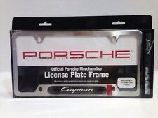 Porsche Cayman License Plate Frame Insignia Brushed Finish 987C 987C-2 981C