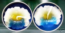 Set of 2 Scented Tealight Candles - White/Blue Orchid