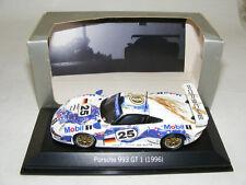 1/43 minichamps PORSCHE 911 GT1 Mobil 1 , 1996 LeMans Car #25
