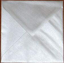 """155mm x 155mm Square (6"""") 95GSM Pearlescent Envelopes - Choice of Colour & Qty"""