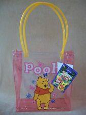 "Disney Winnie The Pooh Vinyl Bag, 8 High, 7 1/2"" Long & 3"" Wide, NEW WITH TAGS!!"