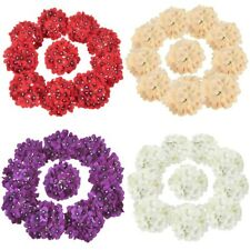 10 PCS Silk Hydrangea Heads Artificial Flowers for Wedding Party Home Decoration