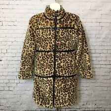 The Children's Place Size L 10 12 Girl's Faux Fur Animal Print Coat Jacket Large