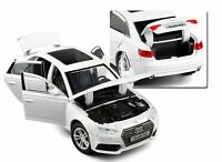 WHITE - AUDI A4 1:32 Scale - Diecast Model Toy Car