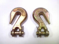 "(2) 1/4""-5/16"" Grade 70 Clevis Grab hooks, Forged Alloy - FREE SHIPPING in USA."