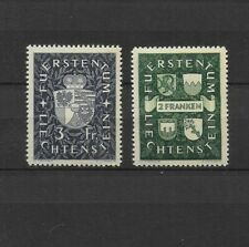 LIECHTENSTEIN / 1939 STEMMI COATS OF ARMS ** MNH