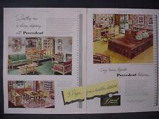 1951 Drexel Furniture Bedroom Living Room Great Colors Vintage Print Ad 12261