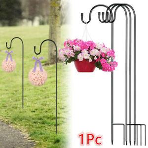 Shepherd Crook Hooks Flowerpot Stand Garden Outdoor Plant Basket Lamp Hanger UK