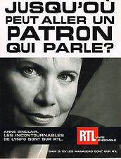 PUBLICITE ADVERTISING 045  2002  RTL  radio  ANNE SINCLAIR