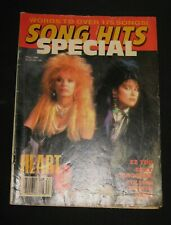 VINTAGE SPECIAL FALL 1986 'SONG HITS' MAGAZINE ~ HEART