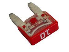 10 x Fusibles Mini 10A 6V 12V 24V 36V 11.9mm para coche, vehículos Color: rojo