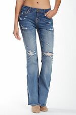 Women's Junior's Love, FIRE Whisker Boot Cut Jeans Rodeo Dr Size 25