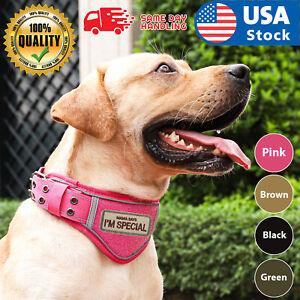 USA K9 Tactical Dog Collar, Military Heavy Duty Adjustable Collar Metal Buckle
