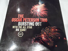 THE OSCAR PETERSON TRIO BURSTING OUT - RAY BROWN - VERVE LP - JAZZ