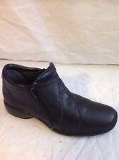 Rieker Black Ankle Leather Boots Size 37