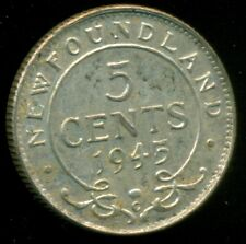 1945 Newfoundland King George VI, Silver Five Cent