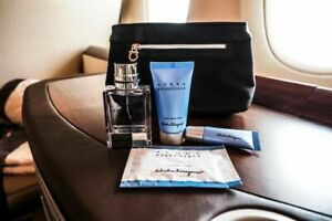 Singapore Airlines First Class Ferragamo Amenity Kit with Contents
