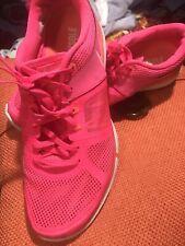 NIKE FLEX 2014 RUN PINK RUNNING TRAINING SHOES WOMENS SIZE 10
