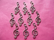 Tibetan Silver Musical Note Charms 10 Per Pack #5