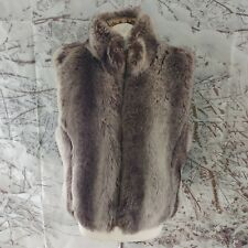 "Atmosphere Brown Faux Fur Gilet. 21"" pit-to-pit, 24"" length, Size 18."