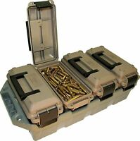 AMMO CRATE 4 Can Utility Box Stackable Multi Caliber Bulk Ammunition Storage