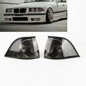 Pair Corner Smoke Turn Lights for BMW E36 3-Series 2DR Coupe/Convertible 92-98