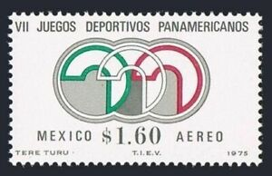 Mexico C468 block/4, MNH. Michel 1471. Pan-American Games, Mexico City-1975.