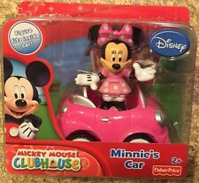 Disney Minnie Mouse Minnie's Car and Figure Pack Free Shipping New Fisher Price