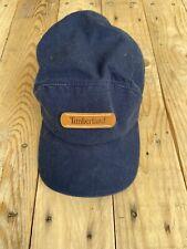 Timberland Men's Blue Baseball Hat Leather Patch Cap Adjustable