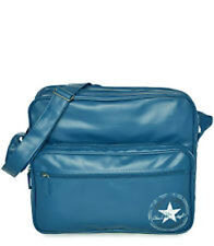 Converse Pocketed Reporter Vintage PU Bag (Light Blue)