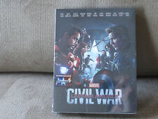 Captain America Civil War Blufans Exclusive Full Slip 3D Blu-Ray Steelbook New