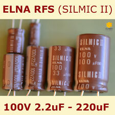 ELNA RFS Audio SILMIC II Aluminium Electrolytic Capacitor [100V] 2.2uF - 220uF