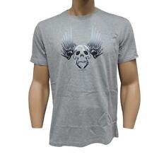 Oakley MELTDOWN T-Shirt Size L Large Grey Marle Mens Cotton Slim Fit Skull Tee