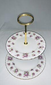 Royal Albert - Sweet Violets, High tea 2 tier cake stand