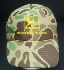 VTG Sun Cap Camoflauge Mesh Back John Deere Nothing Runs Like A Deer Hat