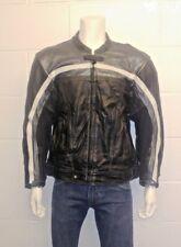 "Belstaff 100% Leather Black Biker Jacket with elbow and shoulder armour size 48"""