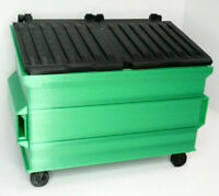 RC 1/10 Scale Trash Bin GREEN Shop Garage Crawler Doll Accessories