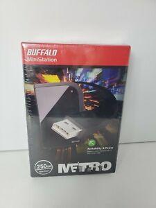 New Buffalo MiniStation Metro external hard drive Blue Shock protected 250GB