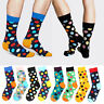 Mens Women Happy Socks Casual Dress Cotton Polka Dots Multi-Color Hosiery Socks