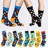 Happy Socks Unisex Men's Casual Dress Socks Polka Dots Multi-Color Hosiery Socks