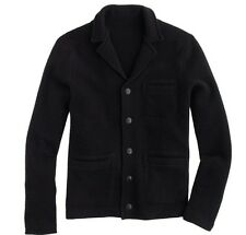 New Wallace & Barnes Boiled Lambswool sweater jacket Black M $130 B2908 J.Crew