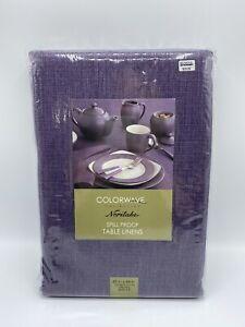 Colorwave Noritake Tablecloth Plum Purple 60 X 84 Oblong Spill Proof Table Linen