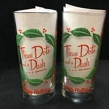 Three Dots And A Dash 2015 Limited Edition Holiday Tumblers Highball Glasses