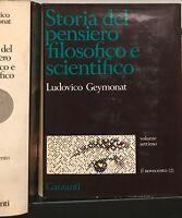 GEYMONAT - STORIA DEL PENSIERO FILOSOFICO E SCIENTIFICO 7 VOLUMI GARZANTI