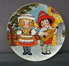 """1981 House Of Global Art-Collector's 8 1/2"""" Plate-Dolly Dingle Visits Italy"""