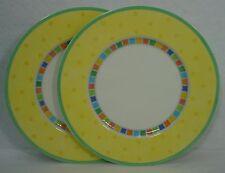 "VILLEROY & BOCH china TWIST ALEA LIMONE pattern SALAD PLATE 8-5/8"" set of TWO"