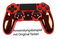 NEU Playstation PS4 Controller Case Hülle Gehäuse Modding Chrome Rot