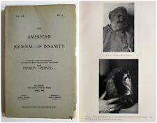 Antique 1903 AMERICAN JOURNAL OF INSANITY Insane Asylum Medical Psychology Book